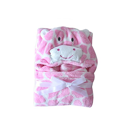 "Price comparison product image Feicuan Baby Hooded Towels Bathrobes Fleece Blanket Girls Animal Pattern Wrap Sleepwear 0-7 Years Old 76cm x 102cm(29.9"" x 39.4"")"