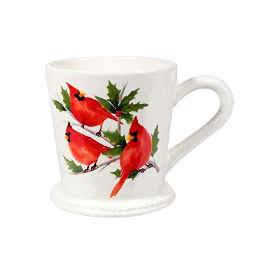 Leaf Footed Cup - DEI Footed Cardinal Mug
