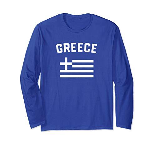 I Love Greece Minimalist Greek Flag Long Sleeve -