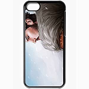 Personalized iPhone 5C Cell phone Case/Cover Skin Art Garrett Hawke Man Snow Blizzard Black