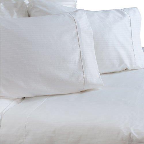 (Austin Horn Classics 600 Thread Count Dobby Supima White Cotton Sheet Set Queen)