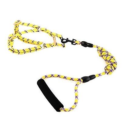 eDealMax Nylon Ruta Correa Ajustable cuerda Para mascotas cachorro de perro pequeño Cuello del arnés del