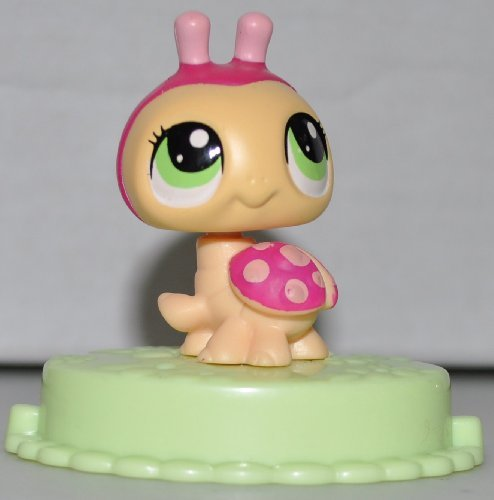 Ladybug (Pink & Maroon McDonalds) - Littlest Pet Shop (Retired) Collector Toy - LPS Collectible Replacement Single Figure - Loose (OOP Out of Package & Print)