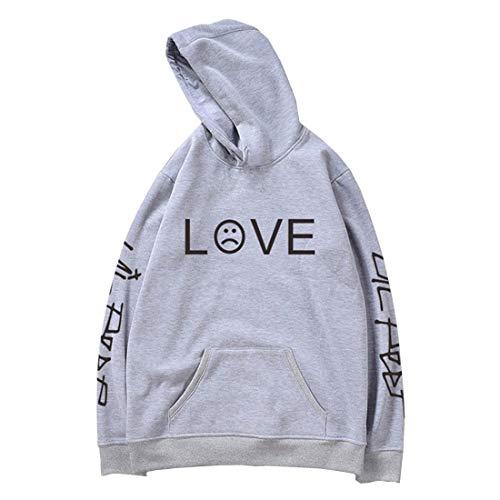(Lil Peep Hoodie Unisex Fashion Print Zip Hoodie Sweatshirt Jacket Pullover)