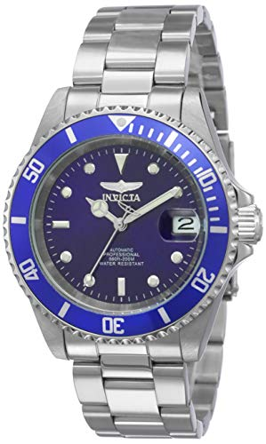 Invicta Men's 9094OB Pro Diver Collection Stainless Steel Watch with Link Bracelet, Silver/Blue ()