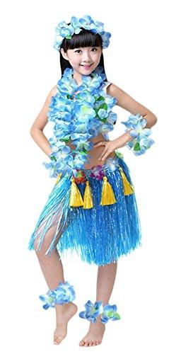 (Fighting to Achieve Girls Hawaiian Hula Set with Tassels 8pcs)