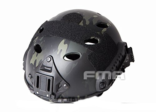 compra H mundo FMA Tactical Airsoft ajustable Fast PJ NVG Mount para casco táctico de protección Airsoft Paintball MultiCam...