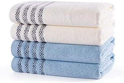 CQIANG タオル、綿タオル、強力吸収タオル、[4セット]ホワイト/ブルーマルチカラーオプション76 * 34 Cm / 30.6 * 13.6インチ (Color : Multi-colored, Design : C)