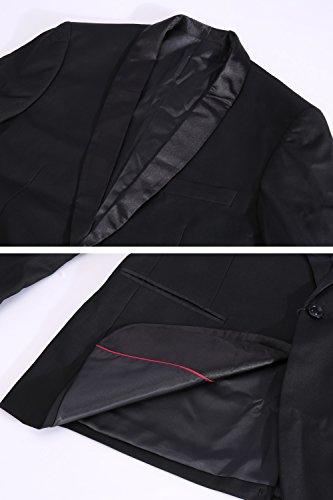 Unie Business Un Fit Jacket De Costumes Habillés Slim couleur Châle Avec Hommes Bouton Manteaux Décontracté Pour Noirs Smoking Blazers zwSxdZU