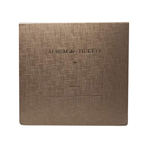 Ticket Stub Organizer - 100 Pockets Leather Ticket Stub Album for Sports Movie Concert Banknote Bill Collection (Ticket Stub Album)