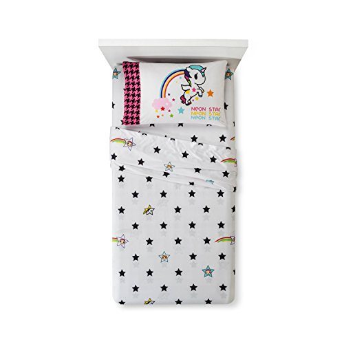 I Love Unicorns Kids Twin Sheet Set - Neon Star by Tokidoki by Tokidoki