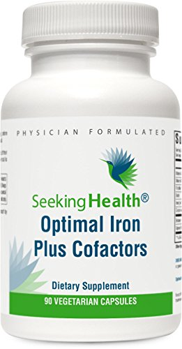 Optimal Iron Plus Cofactors | Gentle Iron Supplement | 90 Vegetarian Capsules | Physician-Formulated | Seeking Health