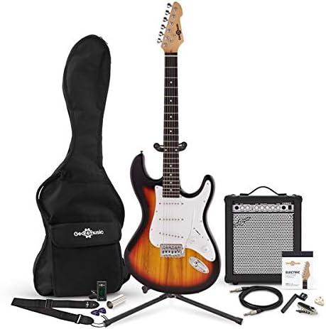 Set Completo de Guitarra Electrica LA + Amplificador de 15 W ...