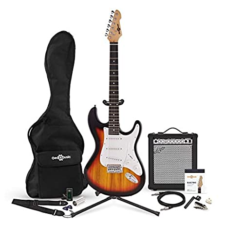 Guitarra Electrica LA + Set de Amplificador Sunburst: Amazon.es ...