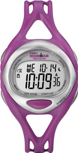 Timex Women's Quartz Watch with LCD Dial Digital Display and Pink Resin Strap T5K759SU