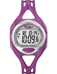 Timex Womens Quartz Watch with LCD Dial Digital Display and Pink Resin Strap T5K759SU