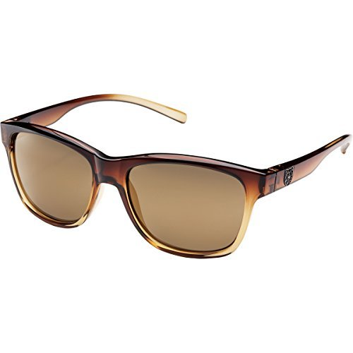 Suncloud Pageant Polarized Sunglass with Polycarbonate Lens, Brown Fade Frame/Sienna ()