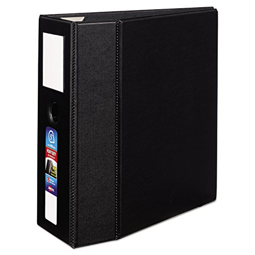 Avery Heavy-Duty Binder with 5 inch One Touch EZD Ring, Black - 5 Inch Ring Ezd Binder