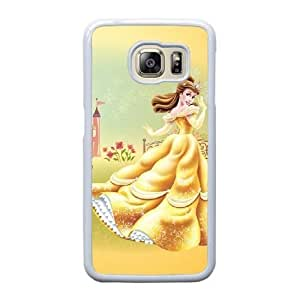 Generic Fashion Hard Back Case Cover Fit for Samsung Galaxy S6 Edge Cell Phone Case white Beauty and the Beast PKL-6023966