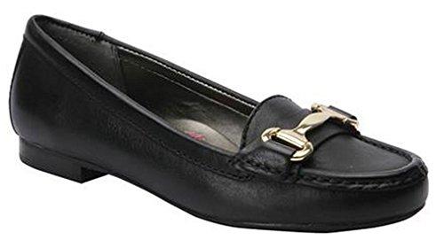 Ros Hommerson Women's Regina Moc Black Loafers 6.5 W