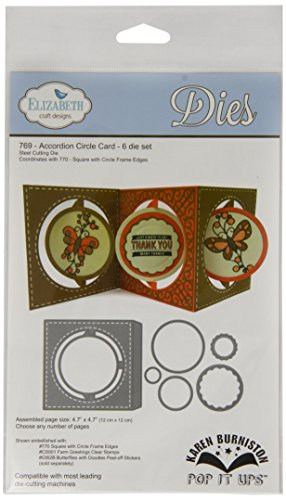 Elizabeth Craft Designs Pop It Up Metal Dies by Karen Burniston, Accordian Circle Card by Elizabeth Craft Designs