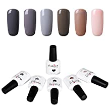 Vishine Soak Off UV Gel Nail Polish Mix Color Nail Lacquer Manicure Set 6pcs X 10ml #018