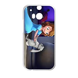 HTC One M8 Cell Phone Case White Disney Sofia the First Character Clover F1F7F