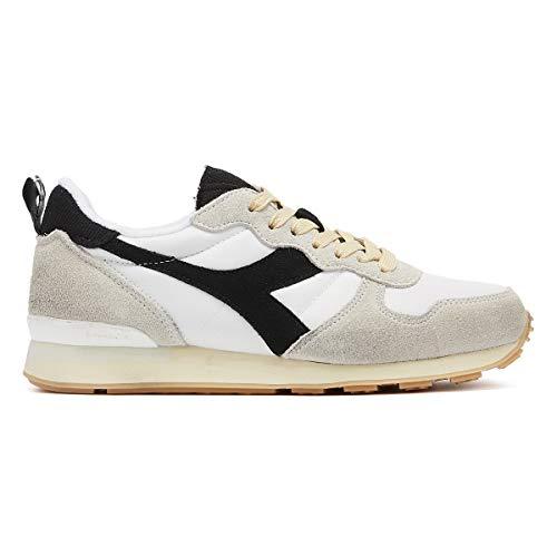 White Uomo Sneaker Bianco Black Diadora nero Camaro cZUOnqX