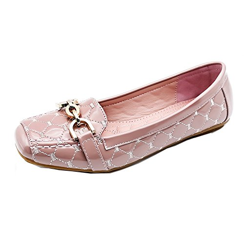 Women's Fashion Comfortable Driving Shoes(Pink) - 5
