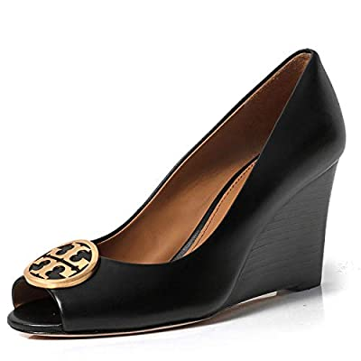 Tory Burch Benton 85MM Wedge Nappa Leather Shoes
