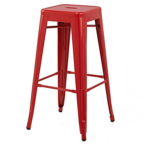 - Flash Furniture CH-31320-30-RED-GG Colorful Restaurant Barstools 30