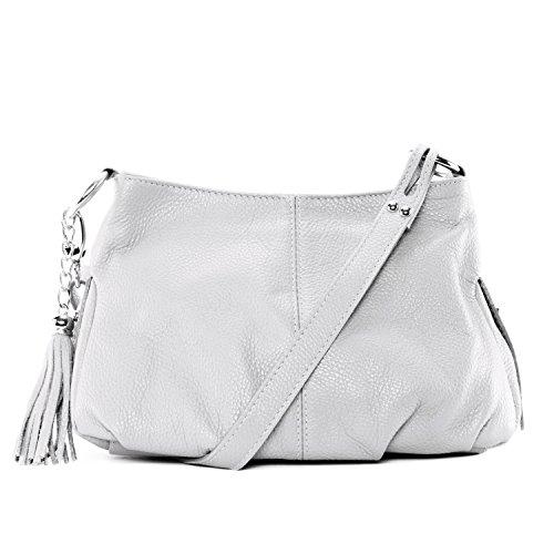 Cuir-Destock sac à main bandoulière cuir grainé modèle gwyneth - nouvelle collection 2018 Blanc