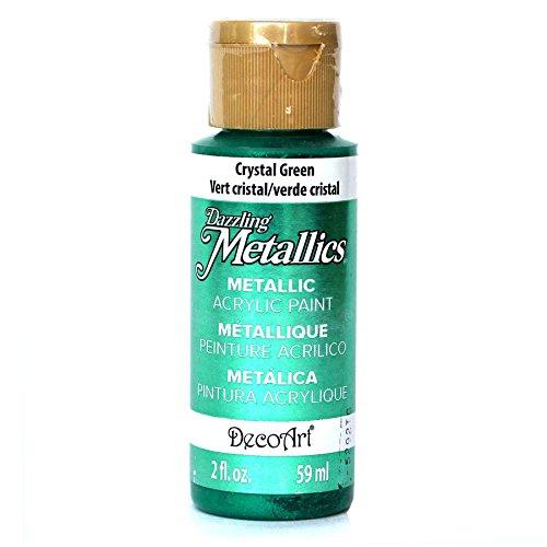 DecoArt Dazzling Metallics 2-Ounce Crystal Green Acrylic -