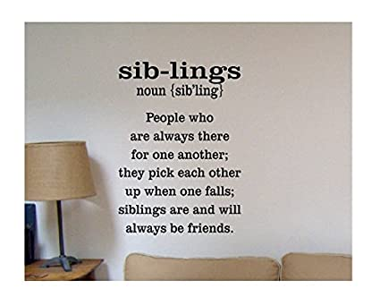 Amazon.com: Susie85Electra Sibling Wall Decal Family Wall ...