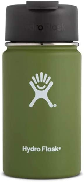 Hydro Flask, Bottle Wide Mouth with Flip Lid Olive, 12 Ounce