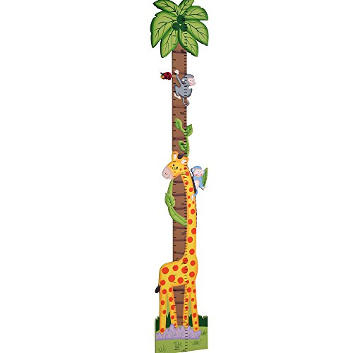 Fantasy Fields - Sunny Safari Animals Thematic Kids Wooden Growth Chart | Imagination Inspiring Hand Painted Details | Non-Toxic, Lead Free Water-based Paint (Safari Growth Chart)