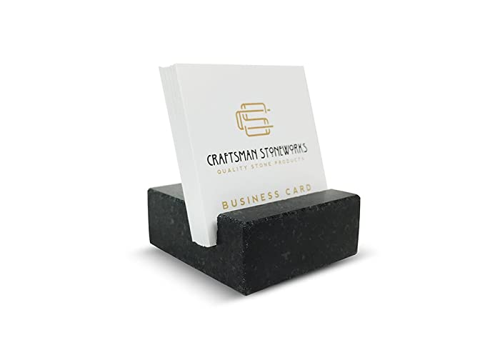 square business card holder made from black absolute granite - Square Business Card Holder
