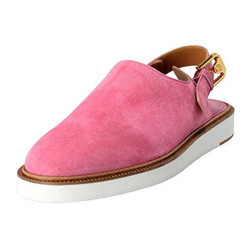 Versace-Mens-Pink-Suede-Leather-Slingback-Sandals-Shoes-US-11-IT-44
