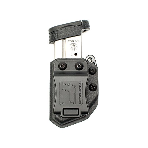 Pistol Universal Single (Tulster Universal 9mm/.40 Single Stack Mag Carrier Echo Carrier IWB/OWB (Black))
