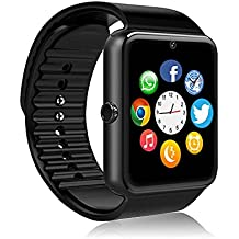 MSRM Smart Watch Water Resistant Smart Watch Anti Lost and Pedometer Fitness Tracker for Android 4.3 above and Iphone 5s/6/6s/7/7s (Partial Functions for iPhone)