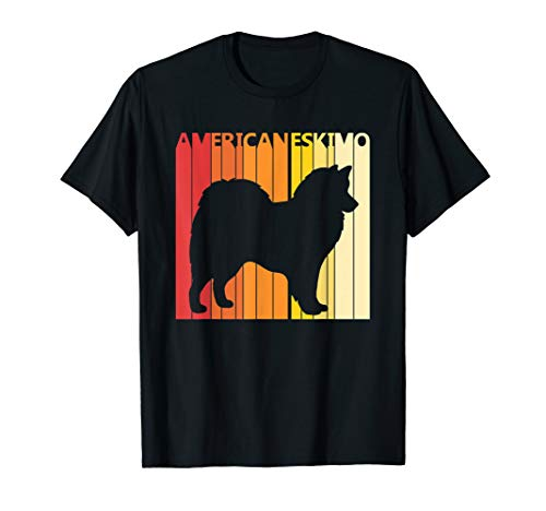 Retro American Eskimo T-shirt Dog Breed Owner Gift