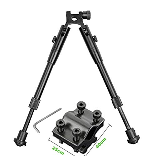 ical Bipod Universal Adjustable Height Picatinny Rail/swivel Mount Bipod with Rifle Barrel Clamp Accessory Weaver Mount Rail (Double Picatinny Rails)