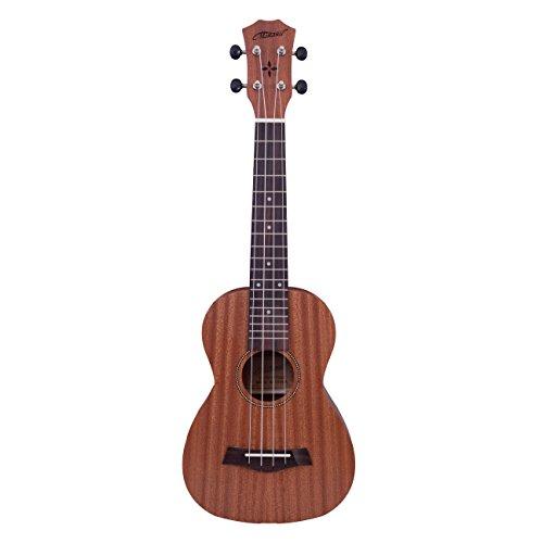 Makanu Professional Concert Ukulele Soudhole decoration Ukulele for Beginner Matt Finish Ukulele with Gig Bag Tuned 7 String Guitars