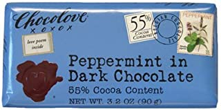 product image for 55% Dark Chocolate with Peppermint Bar 3.2oz: 12 Count