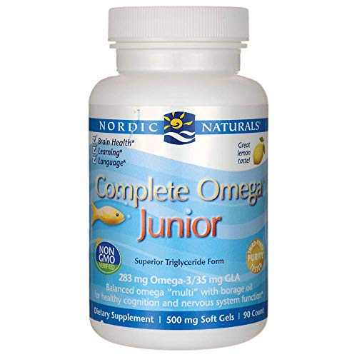 Nordic Naturals – Complete Omega Junior, Promotes Brain, Bone, and Nervous and Immune System Health, 90 Soft Gels