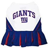 Pets First NYGCLO-SM New York Giants NFL Dog Cheerleader Outfit - Small