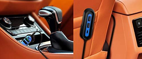 RapidX X5 Plus Car Charger 5 USB Ports QC 3.0/Type C Blue