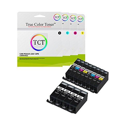 True Color Toner Pgi 225 Cli 226 12 Pack High Yield Pgi225 Cli226 Compatible Ink Cartridge Replacement For Canon Pixma Mg5120 Mg5220 Mg5320 Mg6120 Mg6220 Mg8120 Mg8220 Mx892 Ip4820 Ip4920 Printers