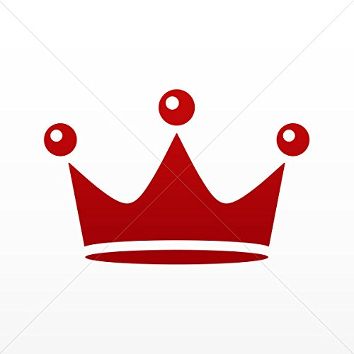 Decals Decal Royal Crown Chess Queen King Kingdom Tablet La Red Dark (4 X 2.64 Inches)