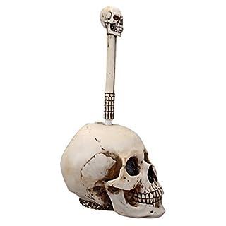 Skull Head Toilet Brush Set - side